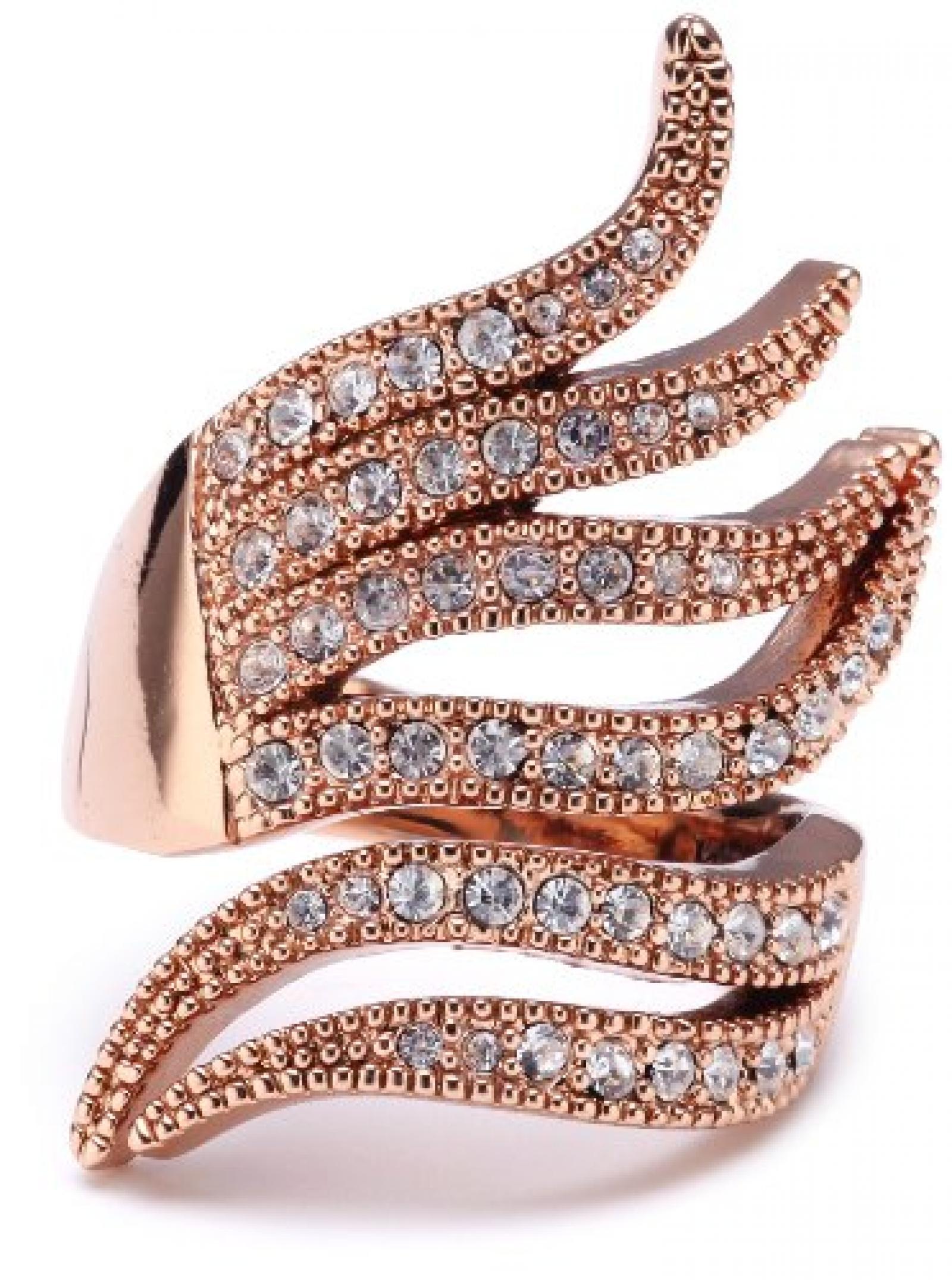 Pilgrim Jewelry Damen-Ring aus der Serie Ringe roségold beschichtet weiß 3.1 cm verstellbar Gr. 51-59 271314024