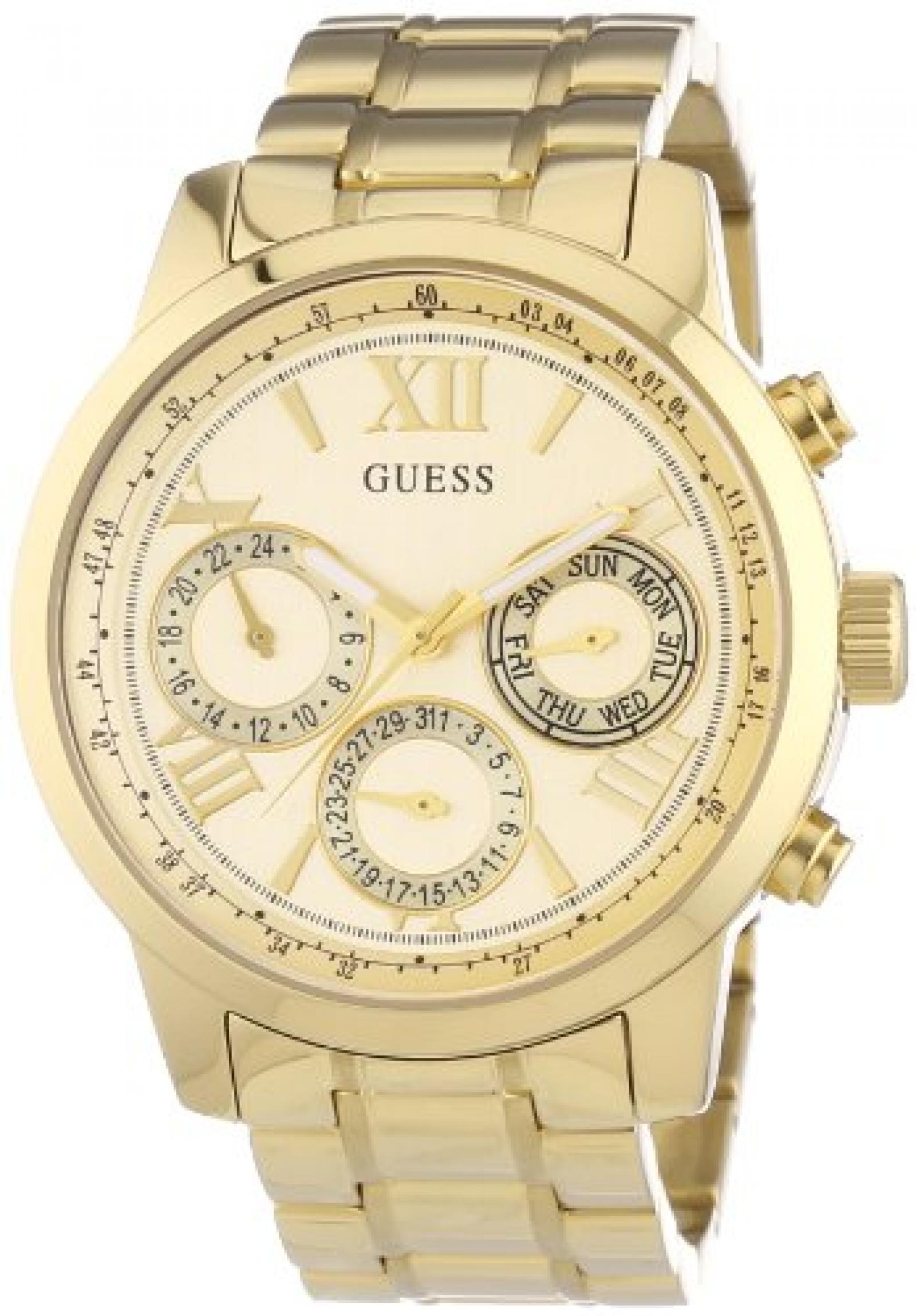 Guess Damen-Armbanduhr Chronograph Quarz Edelstahl W0330L1