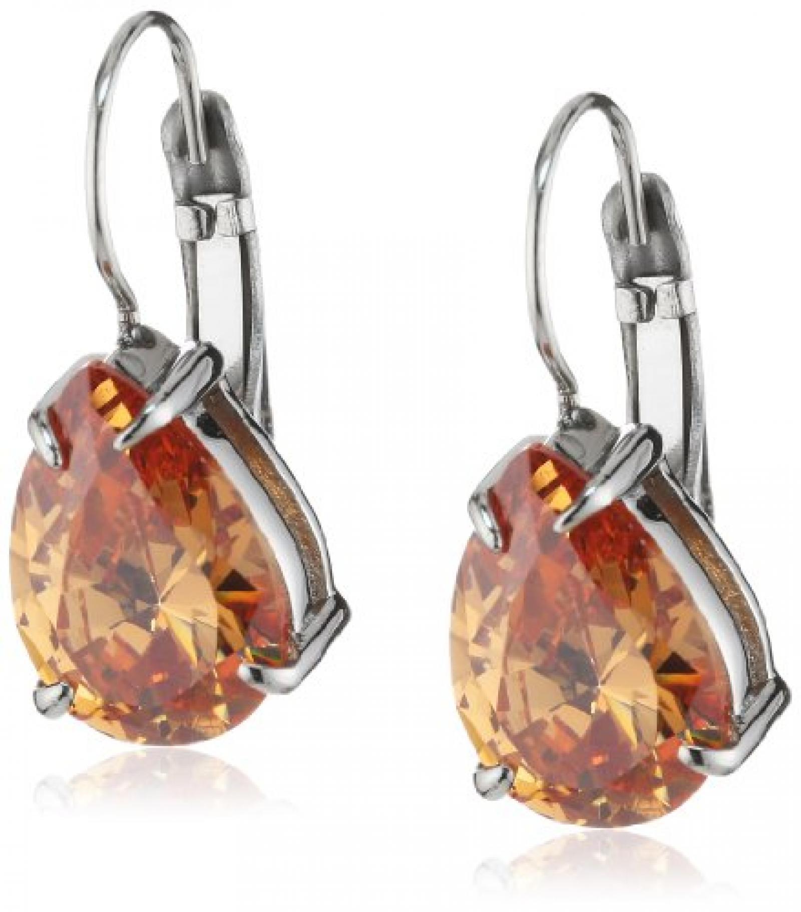 Dyrberg/Kern Damen-Ohrhänger Edelstahl Kristall beige 335331