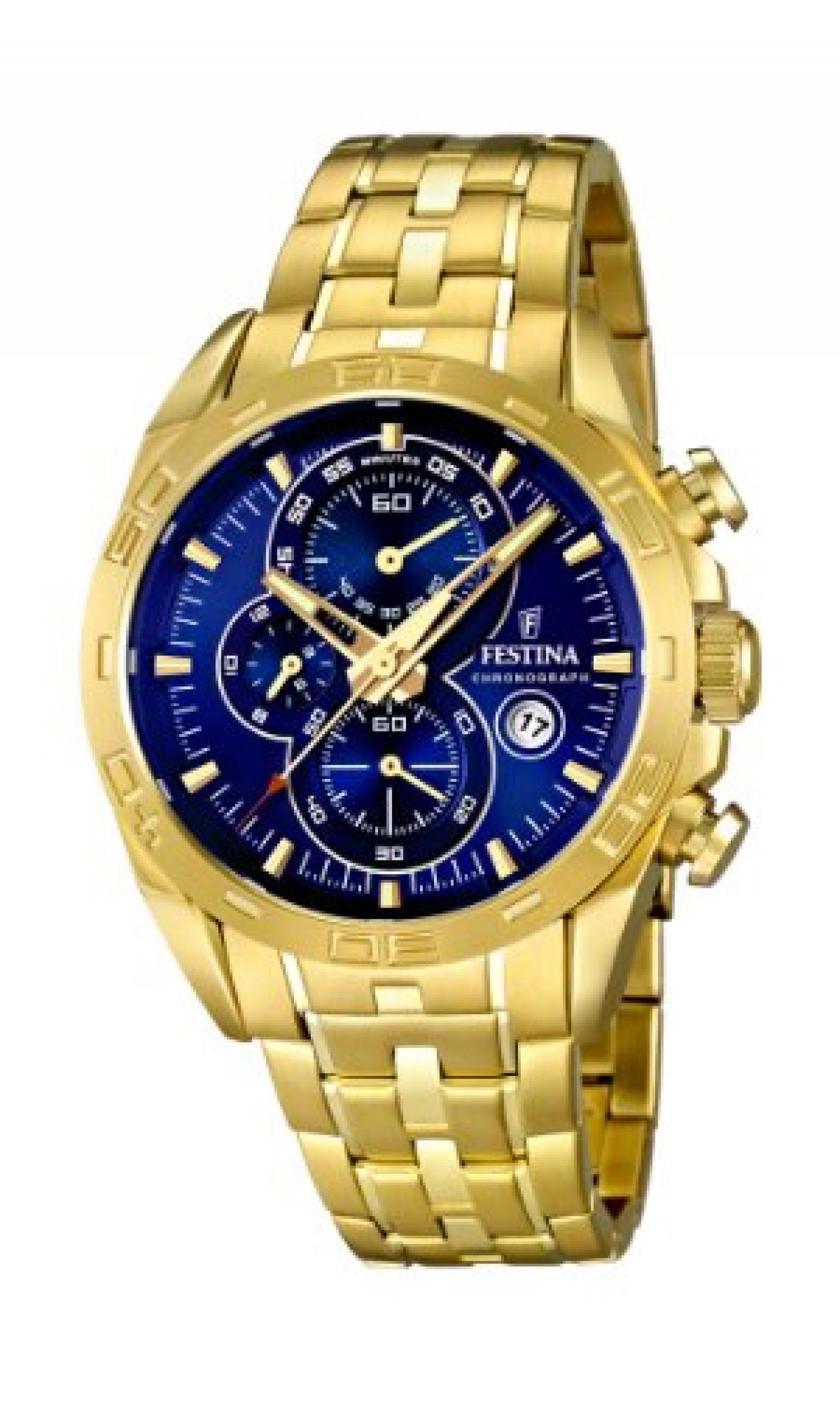 Festina Herren-Armbanduhr XL Analog Quarz Edelstahl beschichtet F16656/3