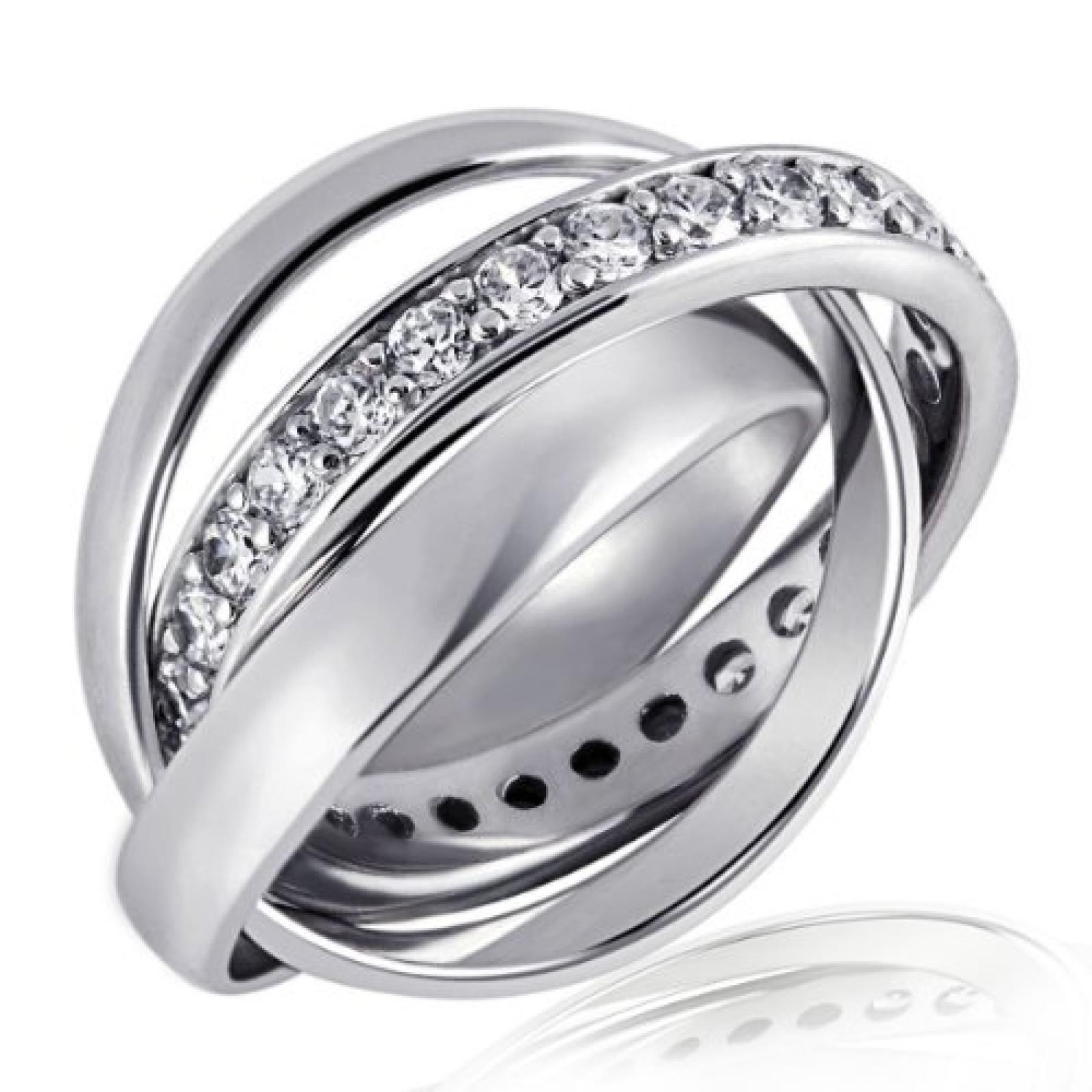 Goldmaid Ring 3 in 1 925 Sterlingsilber 32 Steine
