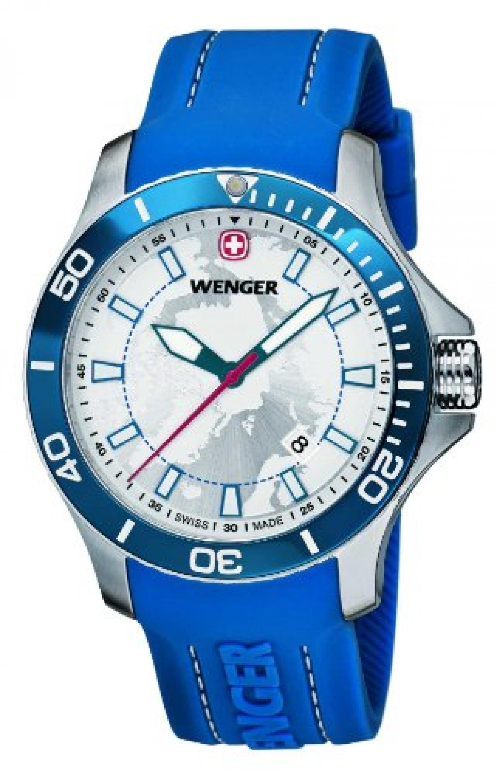 Wenger Herren-Armbanduhr XL SEAFORCE Arctic Light Edition Analog Quarz Kautschuk 60.0641.112