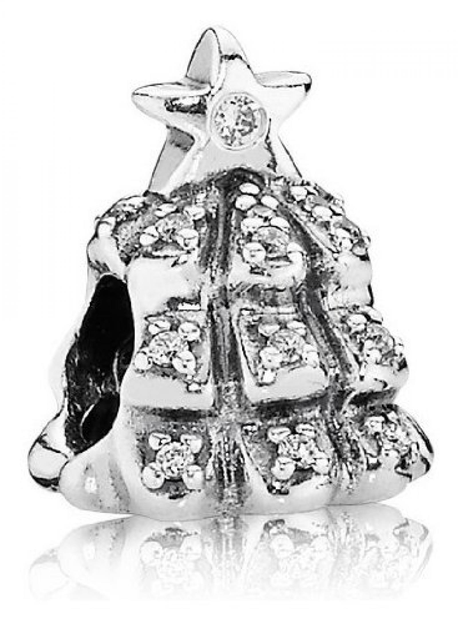 Pandora Damen-Charm Weihnachtsbaum 925 Sterling Silber Moments 791239CZ