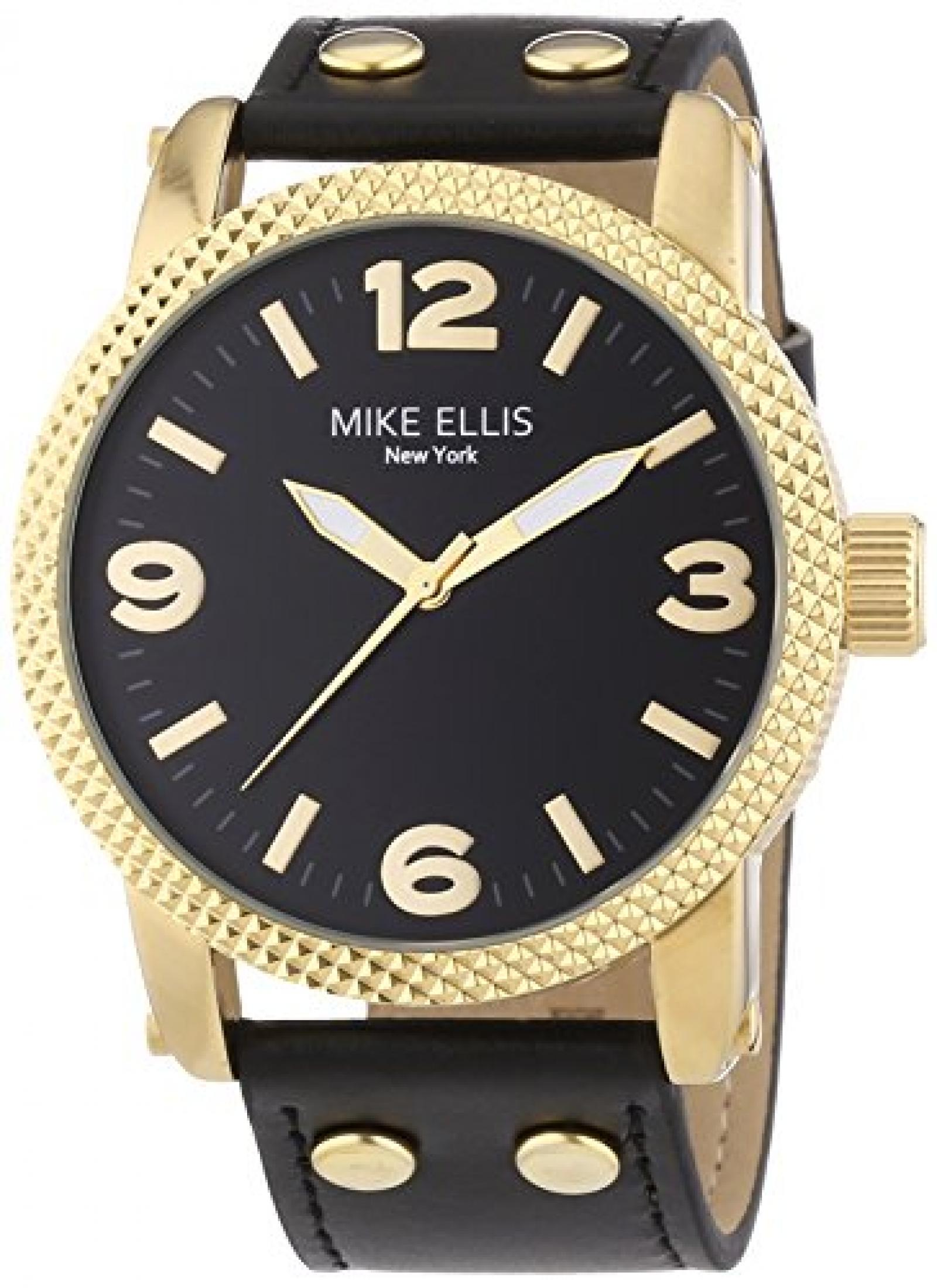 Mike Ellis New York Herren-Armbanduhr XL an:e Analog Quarz Leder SL4316/1