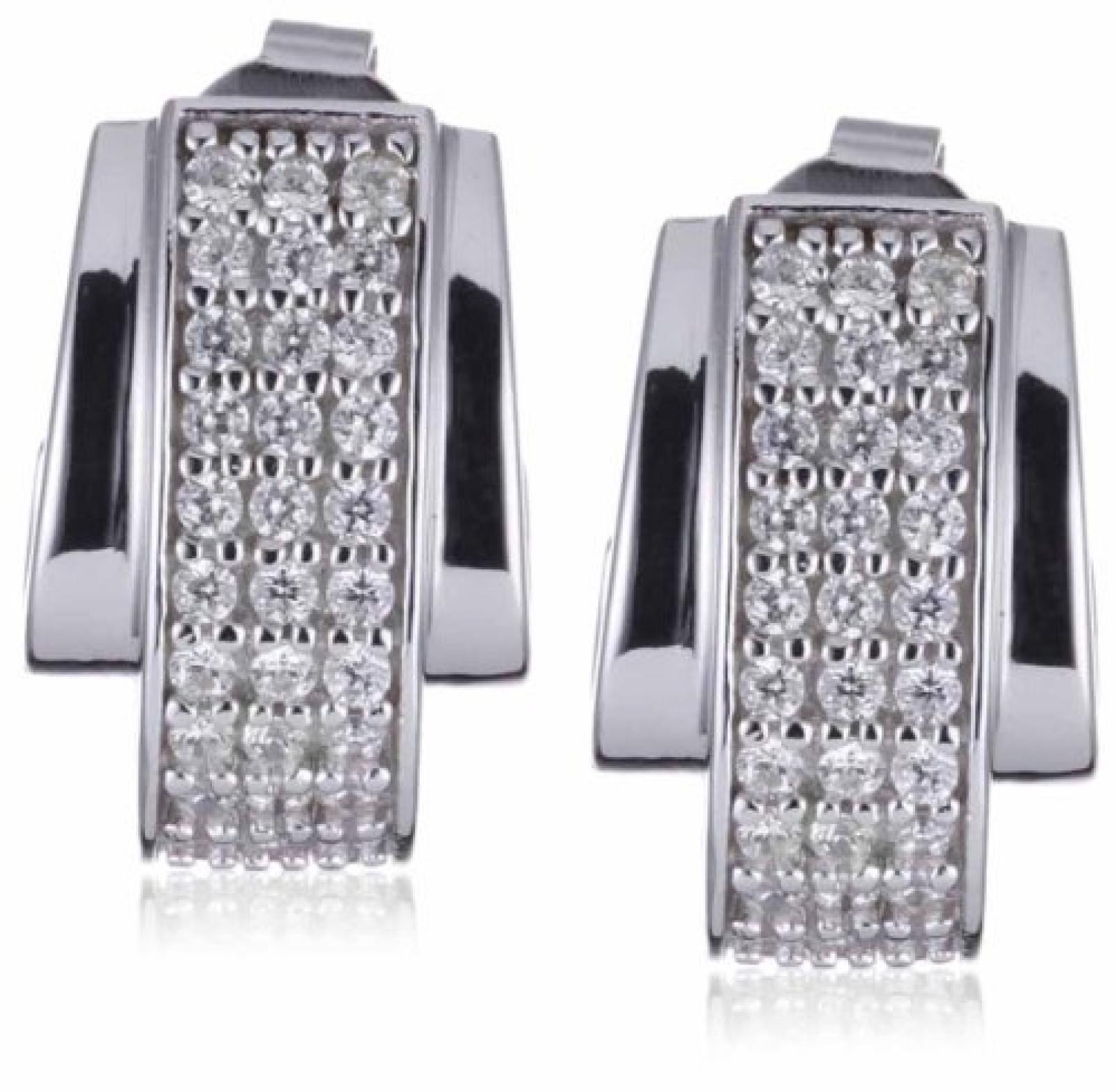 Esprit Ohrringe GLAMOUR CURVE 925 Sterling Silber S.ESER91066A000