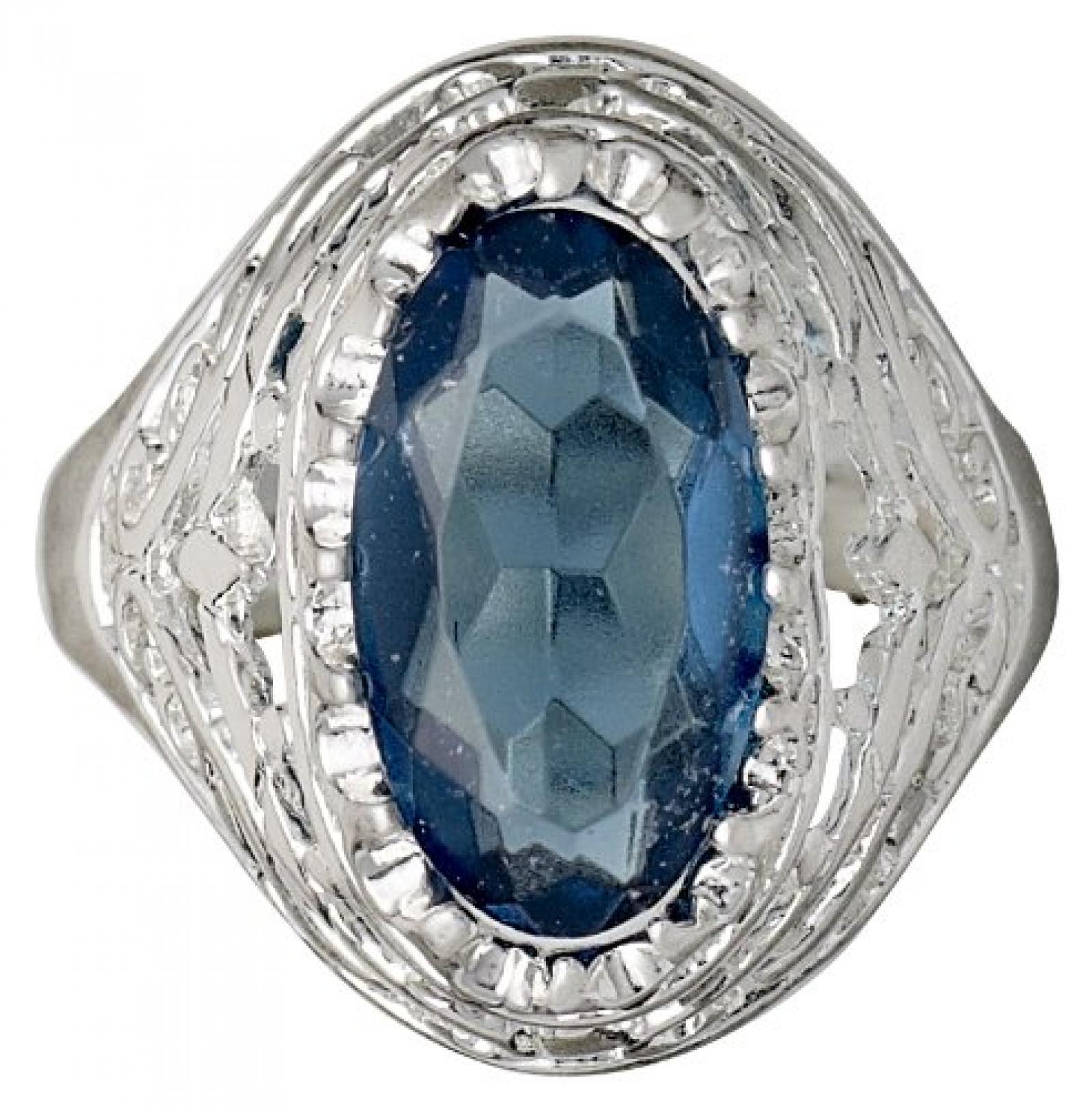 Pilgrim Jewelry Damen-Ring Messing Pilgrim Damen-Ring aus der Serie Russian loving versilbert,blau  2.0 cm 231336204