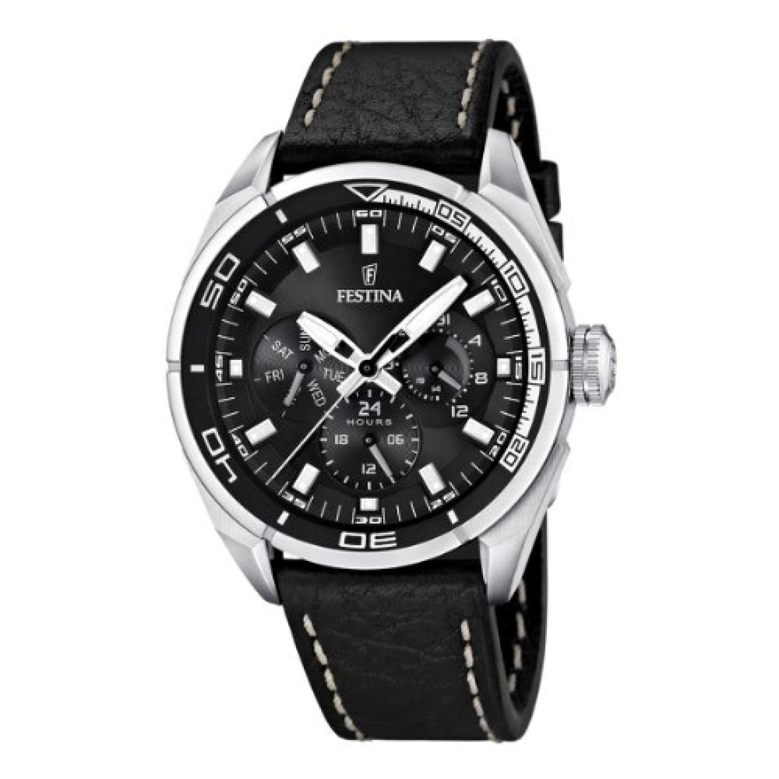 Festina Herren-Armbanduhr XL Analog Quarz Leder F16609/4