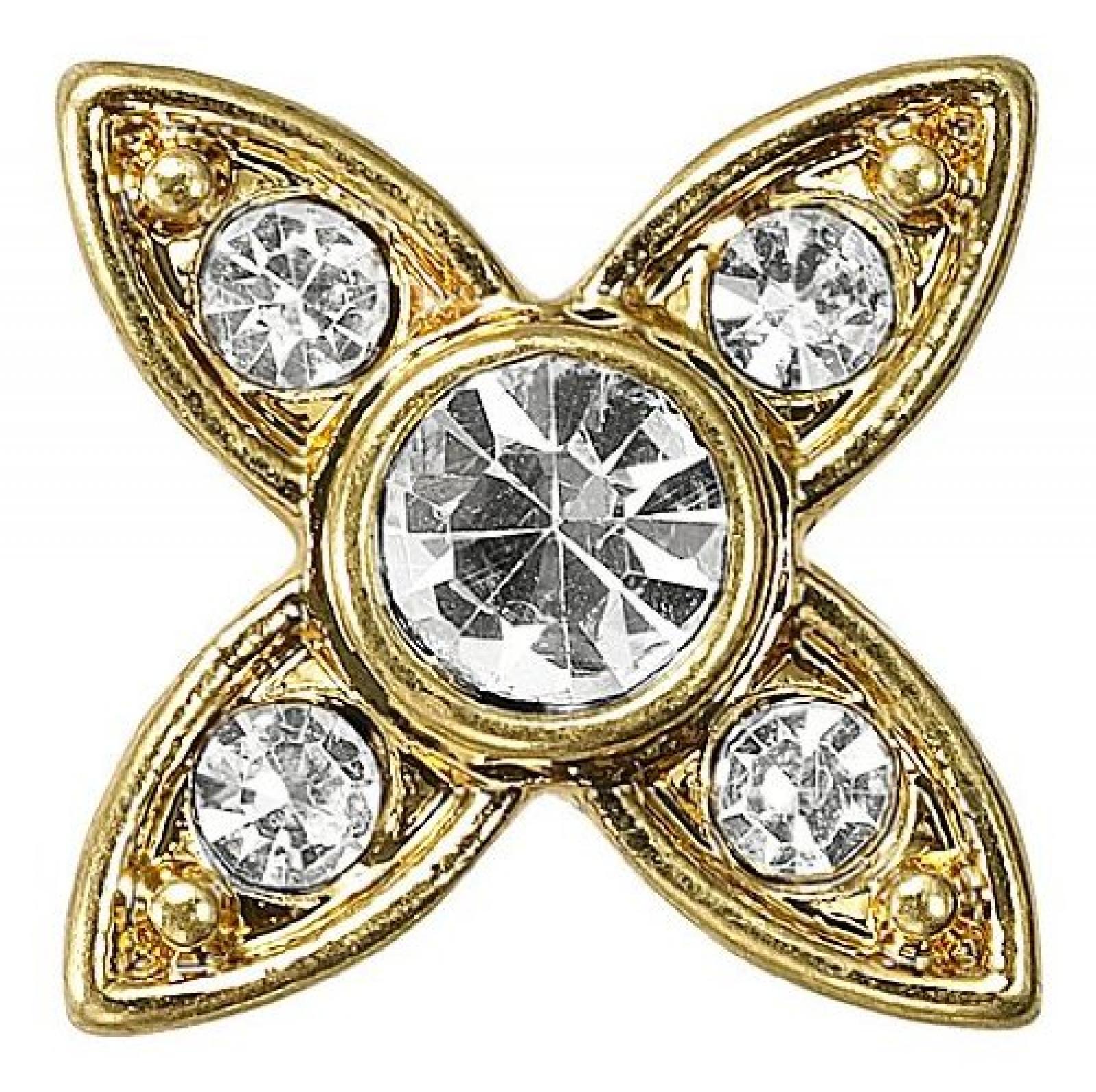 Pilgrim Damen-Anhänger Charming vergoldet kristall 42121-2035