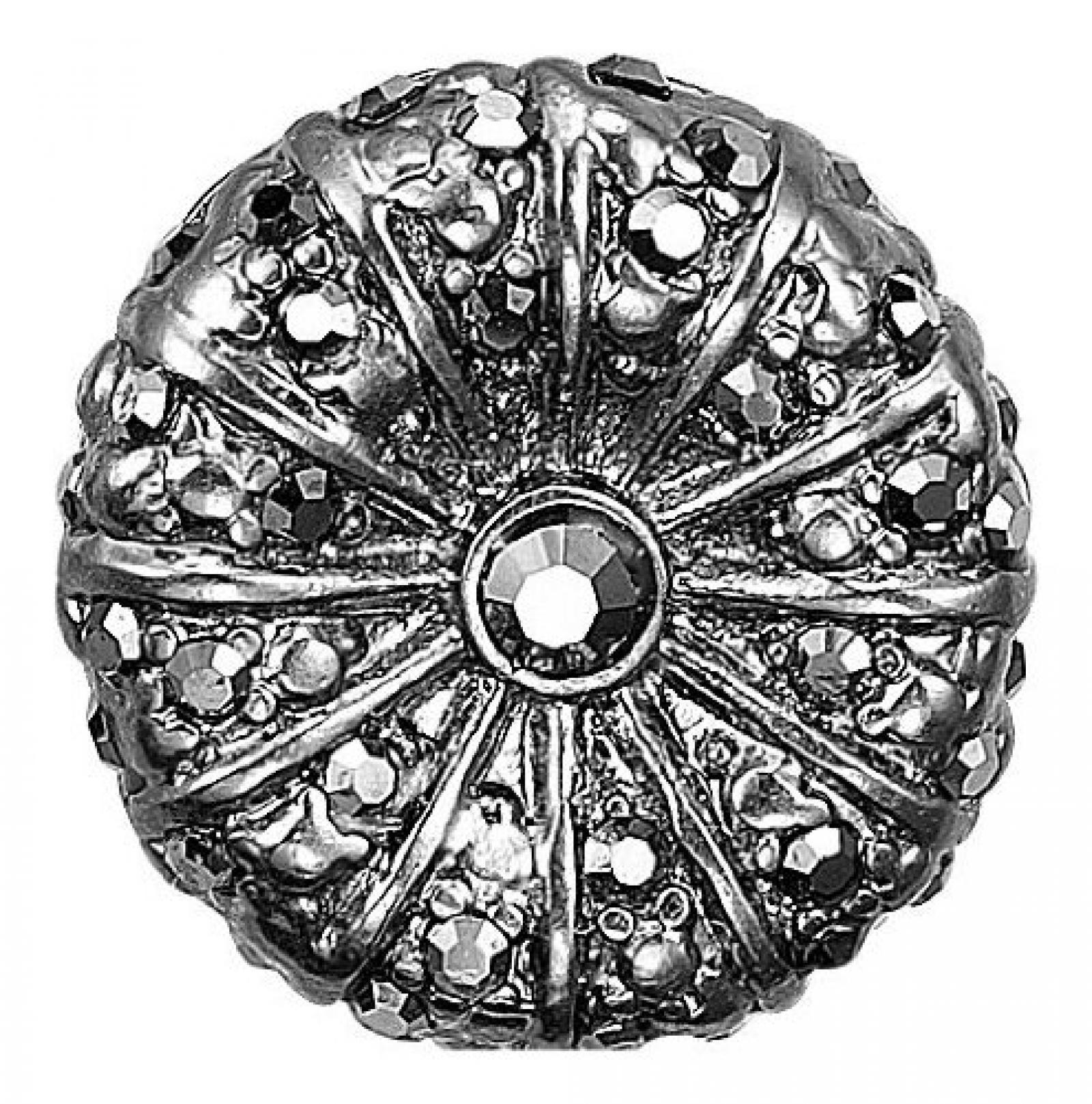 Pilgrim Damen-Anhänger Charming Hematite beschichtet grau 42121-3152