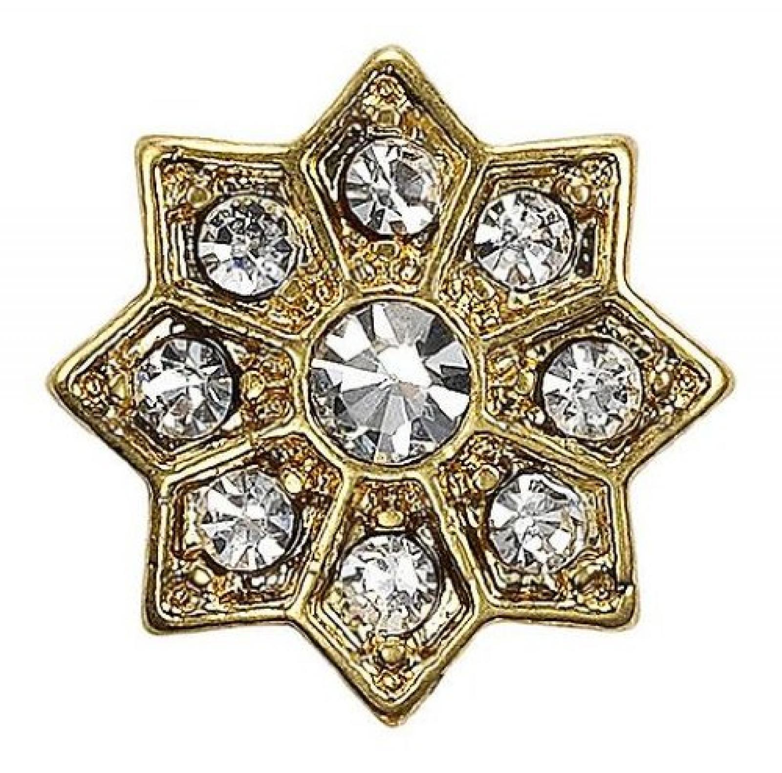 Pilgrim Damen-Anhänger aus der Serie Charming Vergoldet Kristall 42122-2009